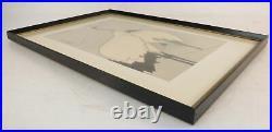 VTG Japanese Watercolor Wood Block Art Print Herons Birds Fowl Framed 14 x 20