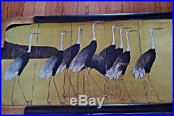 VTG Print Woodblock Cranes Ogata Korin Birds Audubon Kaufman Gallery