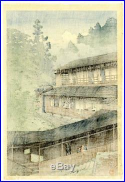 Very Fine! 1941 Kawase Hasui Sakunami Spa Original Japanese Woodblock Print