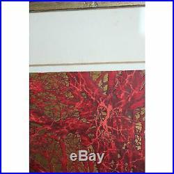 Vintage 1973 Hoshi Joichi Red Branches Ukiyo-e Woodblock Print