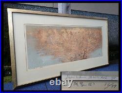 Vintage 1975 Hoshi Joichi Wood View Ukiyo-e Nishiki-e Woodblock Print