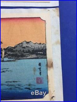 Vintage Japanese Wood Block Prints Set of 10 Landscapes