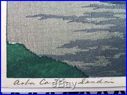Vintage Kawase Hasui Aoba Castle, Sendia Japanese Woodblock Print