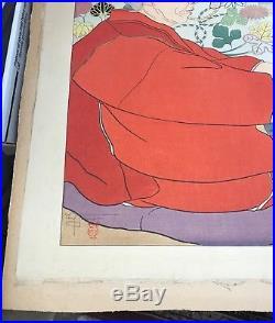 Vintage PAUL JACOULET Japanese Woodblock Print Souvenirs dAutrefois Signed