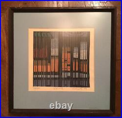 Vtg 1974 Clifton Karhu Japanese Woodblock Print Spring Low Limited Edition Art