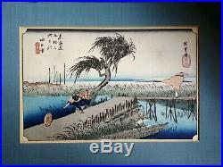 Woodblock Print Original Utagawa Hiroshige Ukiyo-e Hoyeido 1833
