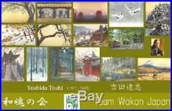 Yoshida Toshi #013801 Tokyo Shinjuku Japanese Woodblock Print