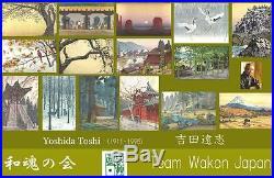 Yoshida Toshi #014103 Benkei Bashi Japanese Woodblock Print
