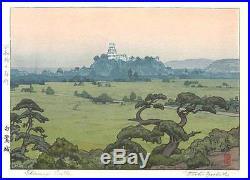 Yoshida Toshi #014201 Shirasagi Castle Japanese Woodblock Print