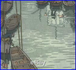 Yoshida Toshi #015101 Urayasu Japanese Traditional Woodblock Print