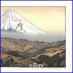 Yoshida Toshi #016203 Mt. Fuji from Nagaoka, Winter Japanese Woodblock Print