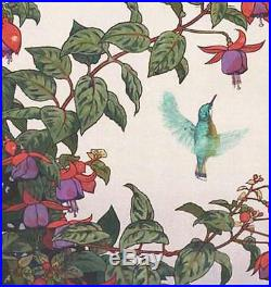 Yoshida Toshi #017101 Hachi Dori Japanese Woodblock Print