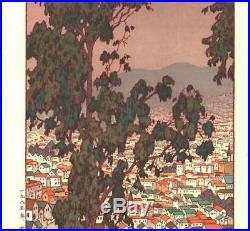 Yoshida Toshi 018502 San Francisco Japanese Woodblock Print