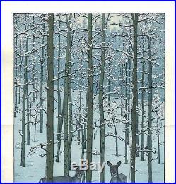 Yoshida Toshi Aspen Japanese Woodblock Print