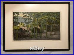 Yoshida Toshi -Bamboo Garden, Hakone Museum Japanese Woodblock Print