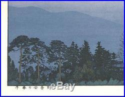 Yoshida Toshi Soshun no Azumino 1989 Japanese Woodblock Print SHIN HANGA F/S
