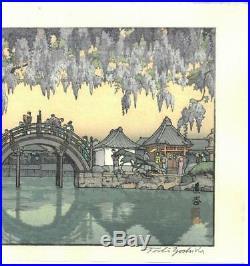 Yoshida Toshi Taiko bashi Japanese Traditional Woodblock Print