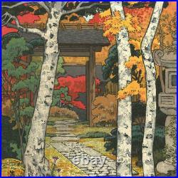 Yoshida Toshi woodblock print Sangetuan Hakone Museum Japanese